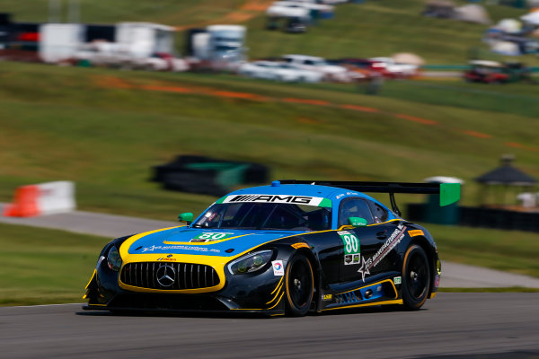 IMSA WeatherTech SportsCar Championship Michelin GT Challenge at VIR Virginia International Raceway, Alton, VA USA Friday 25 August 2017 80, Mercedes, Mercedes AMG GT3, GTD, Dan Knox, Mike Skeen World Copyright: Jake Galstad LAT Images