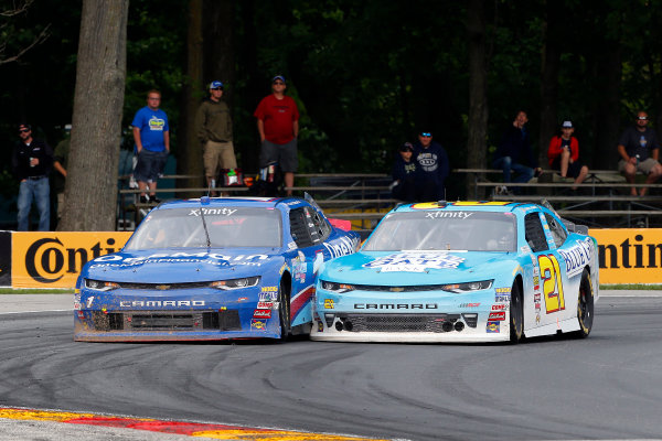 NASCAR XFINITY Series Johnsonville 180 Road America, Elkhart Lake, WI USA Sunday 27 August 2017 Daniel Hemric, Chevrolet Camaro and Elliott Sadler, OneMain Financial Chevrolet Camaro World Copyright: Russell LaBounty LAT Images