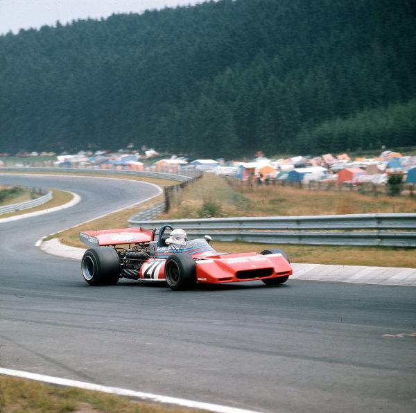 Nurburgring, Germany.28-30 July 1972.Derek Bell (Tecno PA123).Ref-3/5126E.World Copyright - LAT Photographic