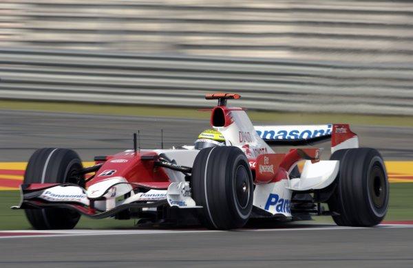 2007 Chinese Grand Prix - Saturday Qualifying Shanghai International Circuit, Shanghai, China 6th October 2007. Ralf Schumacher, Toyota TF107. Action.  World Copyright: Steve Etherington/LAT Photographic ref: Digital Image _CHI1328