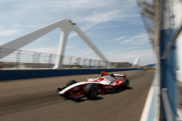 Valencia Spain. 25th June. Friday Qualifying. Jules Bianchi (FRA, ART Grand Prix). Action. Portrait. Photo: Andrew Ferraro/GP2 Media Service. Ref: _O9T4576 jpg