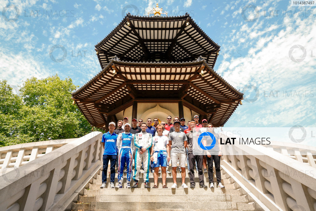 2014/2015 FIA Formula E Championship. London e-Prix, Battersea Park, London, UK. Friday 26 June 2015. The Drivers pose for a portrait. World Copyright: Zak Mauger/LAT Photographic/Formula E. ref: Digital Image _L5R9486
