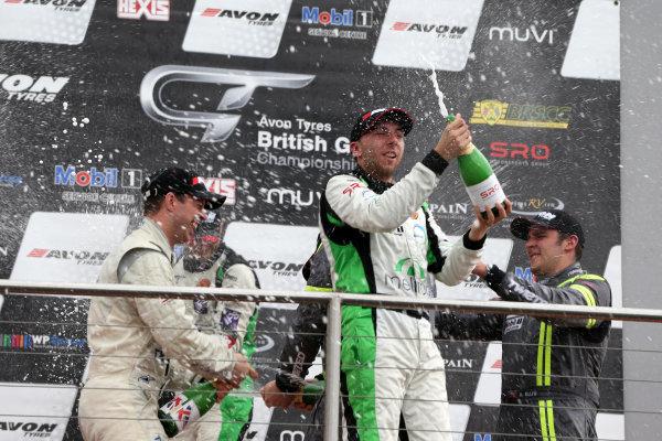 2014 Avon Tyres British GT Championship, Donington Park, Leicestershire. 13th - 14th September 2014. Rick Parfitt / Tom Oliphant Century Motorsport Ginetta G55. World Copyright: Ebrey / LAT Photographic.