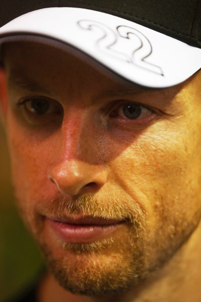 Marina Bay Circuit, Singapore. Friday 18 September 2015. Jenson Button, McLaren. World Copyright: Alastair Staley/LAT Photographic ref: Digital Image _R6T4596