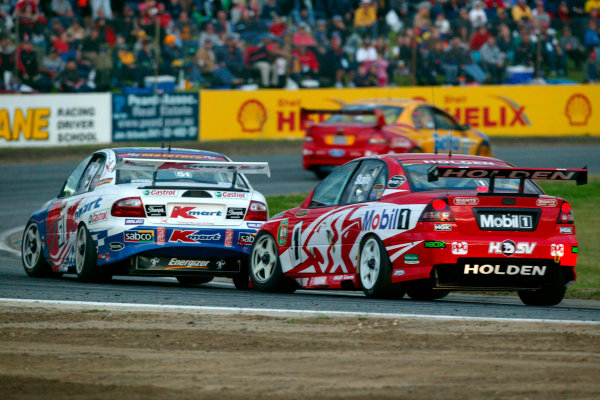 2003 Australian V8 Supercars.Perth, Australia. 8th June 2003.Murphy leads Skaife during race 1 of 3 in Round 5 today at Barbagallo Raceway Perth, Australia. World Copyright: Mark Horsburgh/LAT Photographicref: Digital Image Only