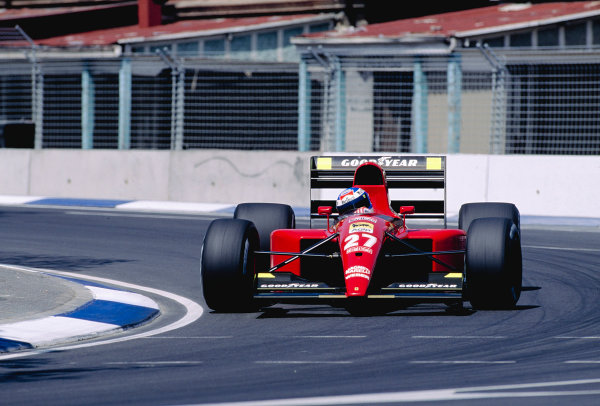 1991 Australian Grand Prix.Adelaide, Australia.1-3 November 1991.Gianni Morbidelli (Ferrari 643) 6th position.Ref-91 AUS 37.World Copyright - LAT Photographic