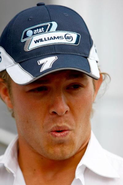 Spa Francorchamps, Spa, Belgium.4th September 2008.Nico Rosberg, Williams FW30 Toyota. Portrait.World Copyright: Charles Coates/LAT Photographicref: Digital Image _26Y3878