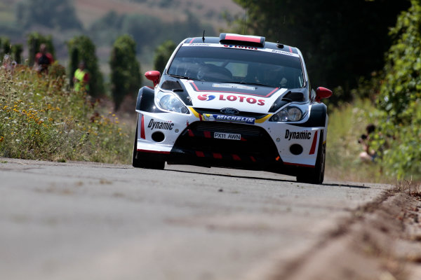 2013 FIA World Rally Championship Round 09-Rally Germany 21-25/8 2013. Michal Kosciuzsko, Ford, Action  Worldwide Copyright: McKlein/LAT