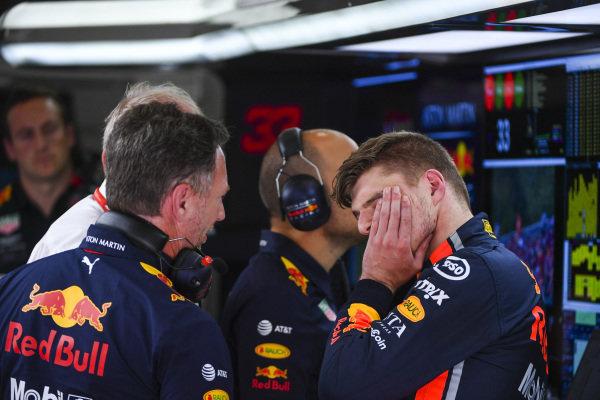 Christian Horner, Team Principal, Red Bull Racing, and Max Verstappen, Red Bull Racing