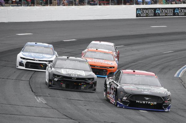 #52: Josh Bilicki, Rick Ware Racing, Ford Mustang, #53: Garrett Smithley, Rick Ware Racing, Chevrolet Camaro