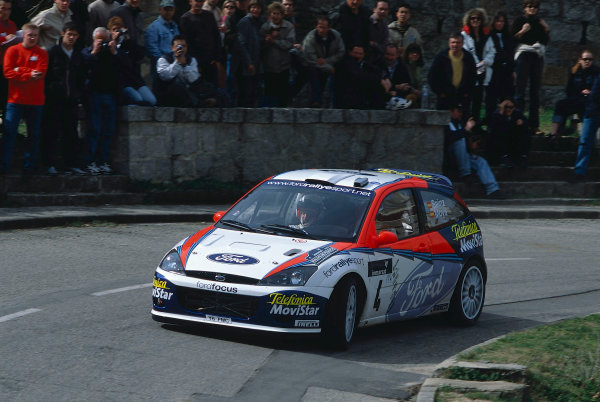 2002 World Rally ChampionshipTour De Corse, Corsica. 8th - 10th March 2002.Carlos Sainz / Luis Moya, Ford Focus RS WRC 02, 6th position overall. World Copyright: McKlein/LAT Photographicref: 35mm Image 02 WRC 17
