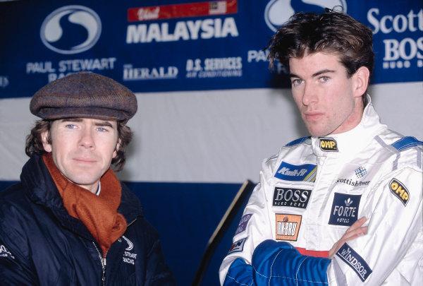 1996 British Formula Three ChampionshipRalph Firman and team owner Paul Stewart, portrait.World Copyright: LAT Photographic
