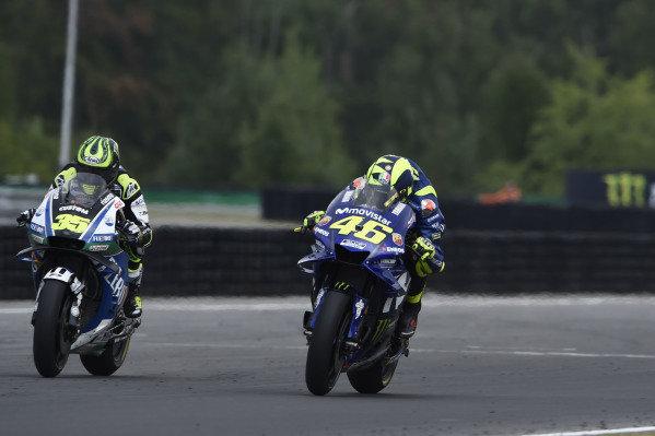 Cal Crutchlow, Team LCR Honda, Valentino Rossi, Yamaha Factory Racing.