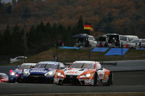 Kazuki Nakajima, Lexus Team TOM'S Lexus LC500, Mitsunori Takaboshi, Kondo Racing Nissan GT-R NISMO GT500.