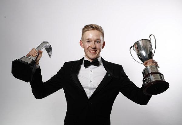 Johnathan Hoggard wins the Aston Martin Autosport BRDC Young Driver Of The Year Award.