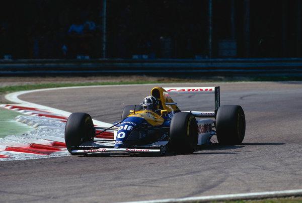 1993 Italian Grand Prix.Monza, Italy.10-12 September 1993.Damon Hill (Williams FW15C Renault) 1st position.Ref-93 ITA 14.World Copyright - LAT Photographic