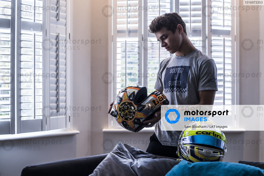 At home with Lando Norris