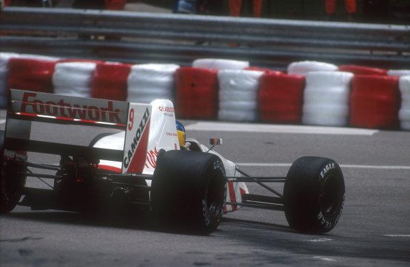 1990 Monaco Grand Prix.Monte Carlo, Monaco.25-27 May 1990.Michele Alboreto (Arrows A11B Ford). He failed to qualify.Ref-90 MON 07.World Copyright - LAT Photographic