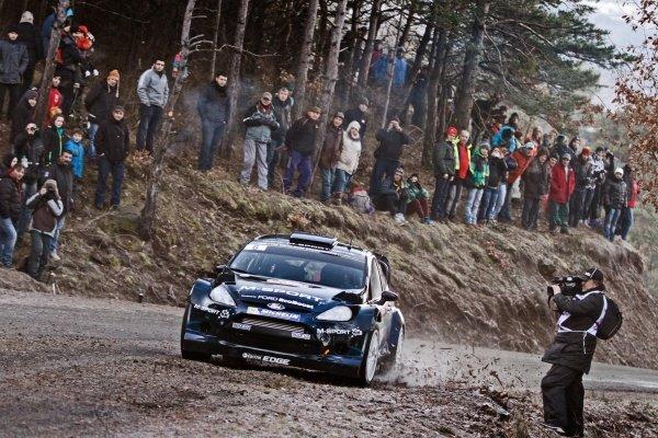 Elfyn Evans (GBR) / Daniel Barritt (GBR), Ford Fiesta RS WRC on the Shakedown Stage. FIA World Rally Championship, Rd1, Rally Monte Carlo, Preparatons, Monte Carlo, 13-15 January 2014.