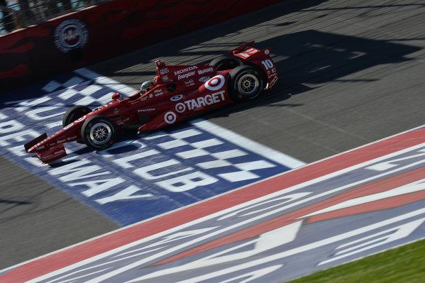 Alex Tagliani (CDN) Target Chip Ganassi Racing.Izod Indycar Series, Rd16, MAVTV American Real 500, Fontana, USA, 18-19 October 2013.